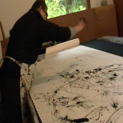 Chan Sheng-Yao at work in his studio