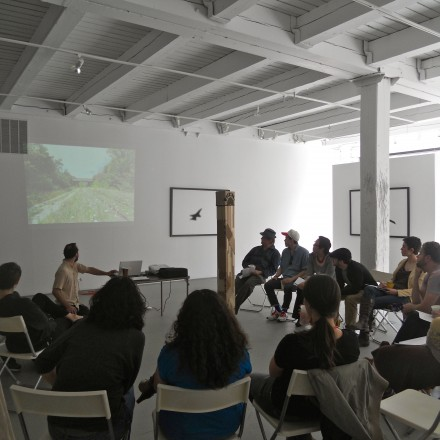 Detroit and Chicago artists meeting and presenting their work to each other at Chicago Artists&#039; Coalition