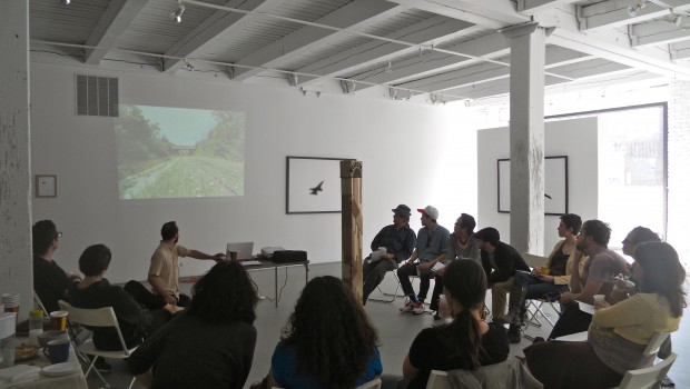 Detroit and Chicago artists meeting and presenting their work to each other at Chicago Artists' Coalition